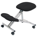Kneeling Chair With Height & Angle Adjustment Steel Framed Charcoal Trexus