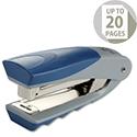 Rexel Centor Half Strip Stapler Vertical 20 Sheets Capacity Silver and Blue