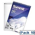 Wirebound Notebook Headbound Ruled 160 Pages 125x200mm Pack 10 Summit
