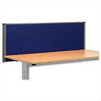 Trexus Plus Flat Top Screen Desktop W1500xD52xH480mm Royal Blue 756384
