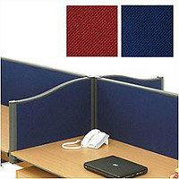 Trexus Plus Shape-top Screen Desktop W1500xD52xH480mm Royal Blue 759186