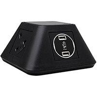 Inca On-surface Power Module 2 x UK Sockets, 2 x twin USB Fast Charge - Black