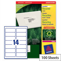 Avery LR7163-100 Address Labels 14 per Sheet Laser 99.1 x 38.1mm 1400 Labels