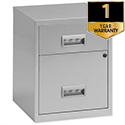 Pierre Henry A4 2 Drawers Steel Filing Combi Cabinet Lockable Silver