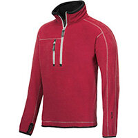 Snickers 8013 A.I.S. Half Zip Fleece Red Size XS WW4