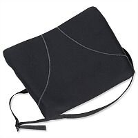 Fellowes Slimline Chair Back Support Soft-touch Fabric with Adjustable Strap Black