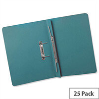 Transfer Spring Files Heavyweight Foolscap Blue Capacity 38mm Pack 25 Guildhall