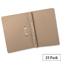 Transfer Spring Files Heavyweight Foolscap Buff Capacity 38mm Pack 25 Guildhall
