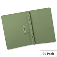 Transfer Spring Files Heavyweight Foolscap Green Capacity 38mm Pack 25 Guildhall