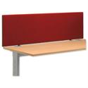Jump Desk Screen 1000x450mm Burgundy Ref SP809329 809329