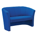 Tub Reception Sofa Fabric Upholstered Royal Blue