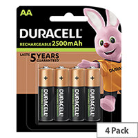 Duracell Stay Charged AA Battery Rechargeable 1950mAh 1.2V Pack 4