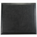 Mat Anti-fatigue Rubber Textured Anti-slip Bevelled-edge 710x780mm Ripple Pattern Doortex