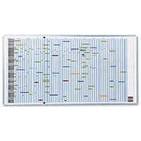 Franken Jumbo Multipurpose Planner & Accessories W1930 x H1000mm – Magnetic, Aluminium, Accessory Kit, Eco-Friendly, Dry Markers & 5 Year Guarantee (SJP1990)