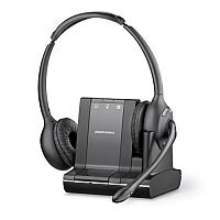 Plantronics Savi W720-M 3in1 Binaural Microsoft Lync Certified DECT Headset (Black)