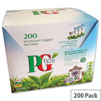 PG Tips Tea Bags Envelopes Pack 200