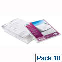 Elba Expanding Plastic Punched Pocket A4 Clear Pack 10