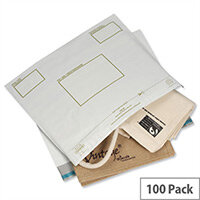 Ampac Extra Strong Oxo-Biodegradable Polythene Envelope 335x430mm White Pack of 100