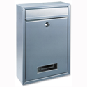 Rottner Tarvis Steel Mail/Suggestion Box 175x30mm Opening W215xD90xH320mm Silver Ref T02943