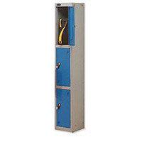 Probe 3 Door Locker Hasp & Staple Lock ACTIVECOAT W305xD305xH1780mm Silver Blue