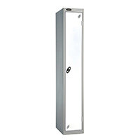 Probe 1 Door Locker ACTIVECOAT W305xD305xH1780mm Silver Body White Doors