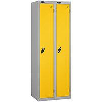 Probe 1 Door Locker ACTIVECOAT W305xD305xH1780mm Nest of 2 Silver Body & Yellow Doors By Lion Steel