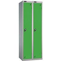 Probe 1 Door Extra Deep Locker ACTIVECOAT W305xD460xH1780mm Nest of 2 Silver Body & Green Doors By Lion Steel