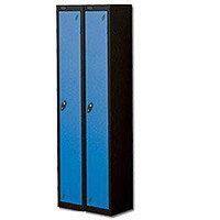 1 Door Locker Nest of 2 Black Blue Trexus