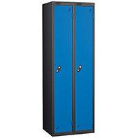 1 Door Locker Nest of 2 Extra Deep Black Blue Trexus