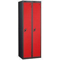 1 Door Locker Nest of 2 Extra Deep Black Red Trexus