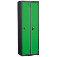 1 Door Locker Nest of 2 Extra Depth Black Green Trexus