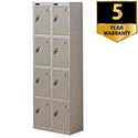 4 Door Locker Nest of 2 460mm Deep Silver Trexus