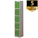 Probe 5 Door Locker ACTIVECOAT W305xD305xH1780mm Silver Body Green Doors