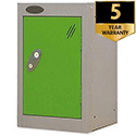 1 Door Small Locker Silver Green Trexus