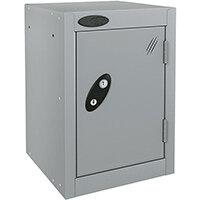 Probe Quarto 1 Door Small Locker Extra Deep ACTIVECOAT 305x460x480mm Silver Body & Doors