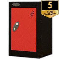 1 Door Small Locker Black Red Trexus