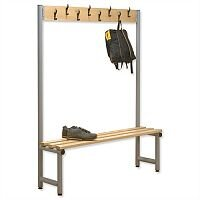 Single Side Bench with Hooks 1000x350mm