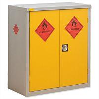 Hazardous Materials Cupboard W915xD460xH1015 by Lion Steel