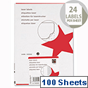 5 Star Address Laser Labels 64x34mm White (2400 Labels)