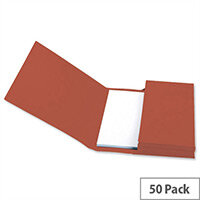 Document Wallet Foolscap Red Pack 50 5 Star