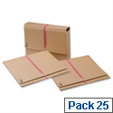 Legal Wallet Foolscap Gusset with Tie Tape 51mm Pack 25 5 Star