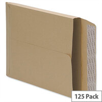 5 Star C4 Gusset 115gsm Envelopes Manilla Peel and Seal Pack of 125