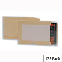 5 Star Manilla Envelopes Hard backed Peel and Seal 115gsm 241x178mm (Pack 125)