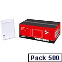 C5 White Envelopes Pocket 100gsm Peel and Seal Pack 500 5 Star