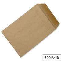 5 Star Office Envelopes Recycled Lightweight Pocket Self Seal 90gsm Manilla 254x178mm Pack 500