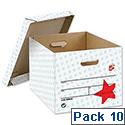 Self Assembly Storage Box Grey 10 Pack 5 Star