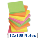 Sticky Notes Neon Pad of 100 Sheets 76x76mm Assorted Pack 12 5 Star