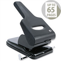 Heavy Duty 2 Hole Punch Metal with Plastic Base Capacity 65 Sheets Black and Grey 5 Star