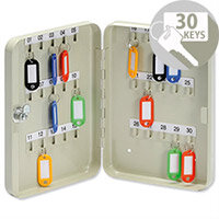 5 Star Lockable Steel Key Safe Cabinet Wall Mountable – Holds 30 Keys, Cylindrical Lock And 2 Keys, Wall Mountable, Key Hangers, Labelling Strips, Key Fobs, Index Sheets & 1-Year Warranty (918850)