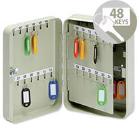 5 Star Lockable Steel Key Safe Cabinet Wall Mountable – Holds 48 Keys, Cylindrical Lock And 2 Keys, Wall Mountable, Key Hangers, Labelling Strips, Key Fobs, Index Sheets & 1-Year Warranty (918869)